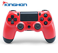 Kinghan® Dual Shock Wireless Bluetooth Game Controller for PS4 (Red)