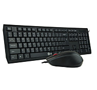 Office Desktop Set with Wired Keyboard and Mouse for PC