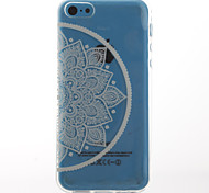 White Lotus Style Transparent Soft TPU Back Cover for iPhone 5C
