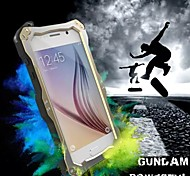 Full Body Rugged Water Resistant Dirt Shockproof Drop Iron Man Metal Three Anti-Cell Phone Shell for Samsung Galaxy S6