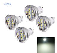 8W GU10 Faretti LED MR16 16 SMD 5630 750 lm Luce fredda Decorativo AC 220-240 V 4 pezzi