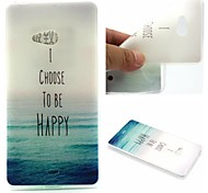 I Choose To Be Happy Words Phrase Pattern 0.6mm Ultra-Thin Soft Case for Lumia N540