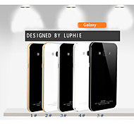 LUPHIE Aluminum Metal Frame Bumper Tempered Glass Back Cover Case For SAMSUG Galaxy A7