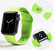 Red / Black / White / Green / Blue / Brown / Pink / Gray / Purple / Orange Rubber Sport Band For Apple Watch 38mm / 42mm