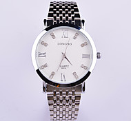 Men and Women Fashion Steel Waterproof Wrist Watch With Black and White Dial