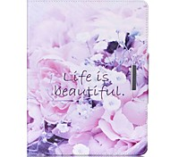 Beautiful Life Pattern PU Leather Full Body Case With Stand for iPad 4/iPad 3/iPad 2