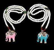 Pendant Beads Chain Sweater Choker Long Necklace
