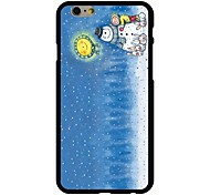 Make A Snowman Pattern PC Hard Case for iPhone 6/6S