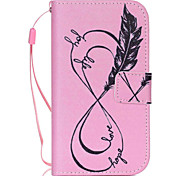 Black Feather  Pattern PU Leather Phone Case For Samsung  G360 / G530