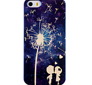 Couple Dandelion Pattern Blu-ray IMD Cell Phone Case for iPhone 5/5S