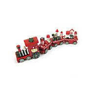 Natal 4 pedaço de madeira xmas treinar papai noel festival ornamento decoração