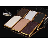 caso de cuero línea fdge de metal del grano de fútbol para el iphone 6 / 6s (colores surtidos)