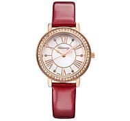 ILEWAY Fashion Ladies Watch Waterproof Leather Strap Watch