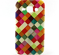 Red Square Pattern TPU Soft Case for Samsung Galaxy J1
