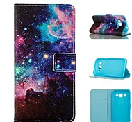 Starry Sky  Pattern PU Leather Painted Phone Case For Samsung Galaxy G360/G530/G357/G850F