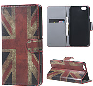 For iPhone 6 Case / iPhone 6 Plus Case Wallet / with Stand / Flip Case Full Body Case Flag Hard PU LeatheriPhone 6s Plus/6 Plus / iPhone