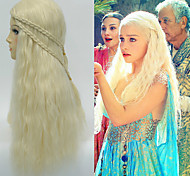 Girl Long Fashion Light Golden Cosplay Synthetic Hair Wigs Top Quality Popular Wigs