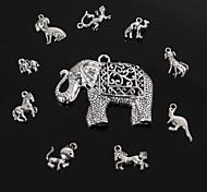 Beadia Antique Silver Metal Charm Pendants Animal Shape DIY Jewelry Pendant 10 Styles