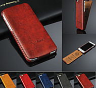 PU Oil Wax Pattern up and Down Flip Phone Protective Shell for iPhone 6/6S 4.7 inch