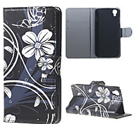 Beautiful Flowers PU Leather Wallet Case for Alcatel OneTouch Idol 3 (4.7)