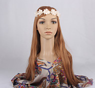 Women Sweet Ivory Flowers Pearls Headband