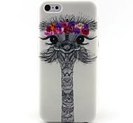 Giraffe Pattern TPU Material Phone Case for iPhone 5C