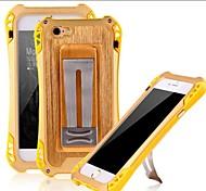 à prova de choque de metal de alumínio de proteção pesados com tela de vidro temperado proteger caso capa para o iPhone 6 Plus / 6s mais
