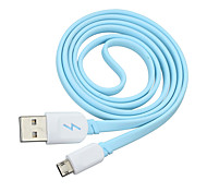 Can Positive or Reverse Side Insert Micro USB Data Sync / Charging Cable  for Samsung HTC Micro Plug Phone (100cm)