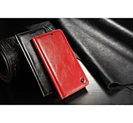 For Samsung Galaxy Case Card Holder / with Stand / Flip / Magnetic Case Full Body Case Solid Color PU Leather Samsung A7