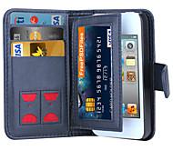 de ji magnétique 2 en 1 de luxe couvercle portefeuille en cuir cas flip + cash + fente cadre photo cas de téléphone pour iPhone 4 / 4S