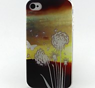 paardebloem patroon TPU Case voor iPhone 4G / 4s