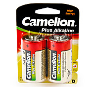 Camelion Plus Alkaline Primary Batteries Size D (2pcs)