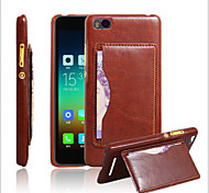 Creative Leather Back Shell Crazy Horse Pattern Insertion Bracket For Millet Mobile Phone 4I Mobile Phone