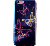 Butterfly Pattern Blu-ray IMD Cell Phone Case for iPhone 6 /6S