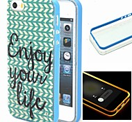 2-in-1 Herringbone Pattern TPU Back Cover with PC Bumper Shockproof Soft Case for iPhone 5/5S