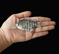 """Señuelos duros / Cebos Señuelos duros 1 pcs , 14 g / 1/2 Onza , 70 mm / 2-3/4"""" pulgada Gris Plástico duro Pesca de Mar"""