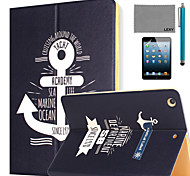 LEXY® Sailing Diary Pattern PU Leather Flip Stand Case with Screen Protector and Stylus for iPad Mini 4