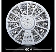 1PCS White Mix Disc Nail Jewelry