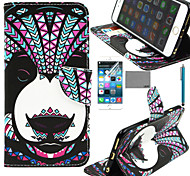 LEXY® Panda Tribal Pattern PU Full Body Leather Case with Screen Protector and Stylus for iPhone 6/6S