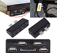 4 porte di espansione prolunga USB hub multi media con slot SD flash card per Sony Playstation 3 PS3 console di gioco sottile