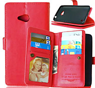 High Quality PU leather Wallet Mobile Phone Holster Case For Nokia 640(Assorted Color)