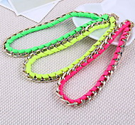 Fashion Pendant Chain  Woven Choker Short Necklace