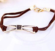 New Women Fashion Brown Leather Cord Bangle Bracelet Jewelry