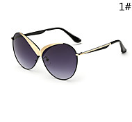 Sunglasses Women's Modern / Fashion Oversized Silver / Gold Sunglasses Full-Rim