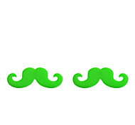 Korean Fashion Plastic Big Mustache Alloy Stud Earrings