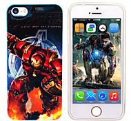 iphone 5 maravilla el espejo ironman avenger caso de la contraportada azul libre con protector de pantalla hd headfore para el iphone 5 /