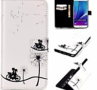 Embossed PU Leather Holster for Samsung Galaxy NOTE 5