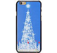 Christmas Style White Star Tree Pattern PC Hard Back Cover for iPhone 6