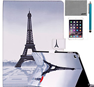 LEXY® Red Umbrella Tower Pattern PU Leather Flip Stand Case with Screen Protector and Stylus for iPad Mini 1/2/3