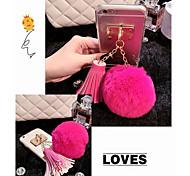Luxus-Kaninchen Haare Ball Quaste Anhänger tpu Fall für iphone 5 / 5s (verschiedene Farben)